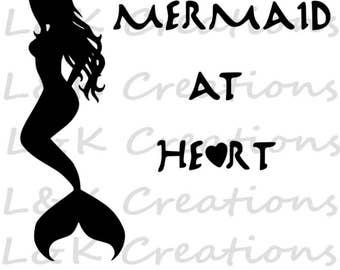 """Vector Image """"Mermaid at Heart"""""""