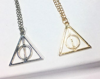 Deathly Hallow Necklace, Harry Potter Necklace, Harry Potter Charm, Harry Potter Gift, Hogwarts, Harry Potter Jewelry, Unisex Harry Potter