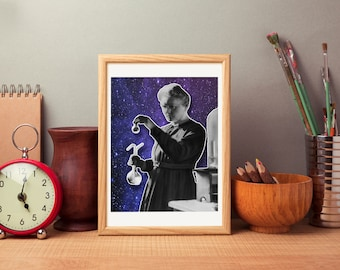 Marie Curie Print - Marie Curie Poster - Physics Print - Science Poster - Madame Curie Art - Madame Curie Poster