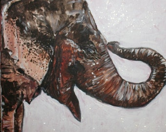 Elephant painting by Chelsey Costello.