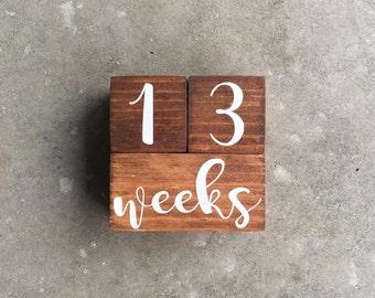 Baby Milestone Blocks | Baby Age Blocks  | Baby Month Blocks | Baby Shower Gift | Baby Photo Prop | Personalized Baby Blocks