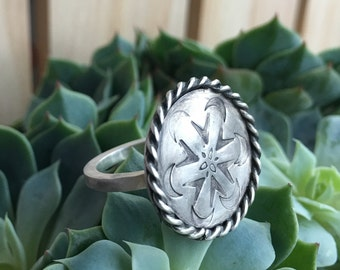 Sterling Silver Mandala Ring
