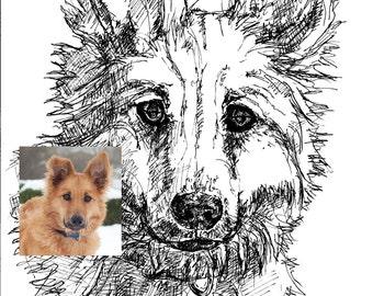 Custom Pet Portrait, Guaranteed Likeness or money return!!!