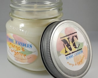 Mango & Tangerine Homemade All Natural Soy Candle