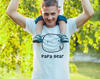 SINGLE TEE- Papa Bear / Father / Daddy and me / Matching Tees / Unisex Tee / Bear Family / Dad Tshirt / Fathers Day / Dad Tee / Mama Bear