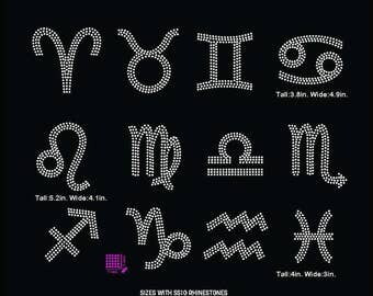 Astrology, Zodiac signs  rhinestone template digital download, svg, eps, studio3, png, dxf