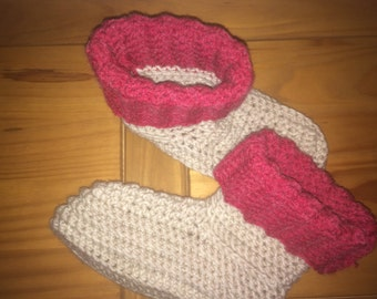 Self-crocheted socks size S (36-38)