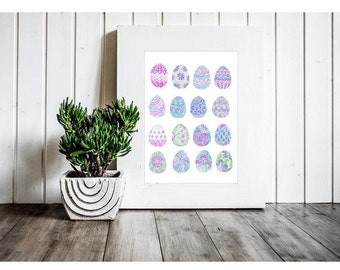 Easter Printable - Easter Print - Easter Egg Cliaprt - Easter Printables - Easter Decorations - Easter Decor - Easter Card Clipart - Clipart