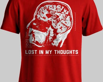 Red Lost In My Thoughts – Available in multiple sizes