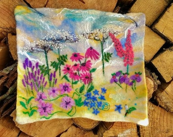 Felt wall hanging picture decor art flowers