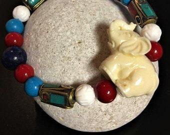 Feng Shui Turquoise Elephant Bracelet
