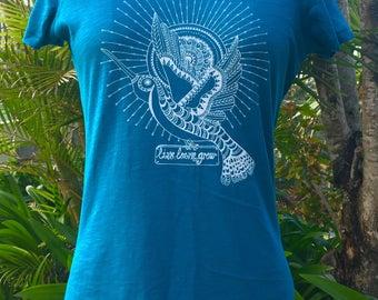 Women's 100% Organic Cotton, Teal Shirt