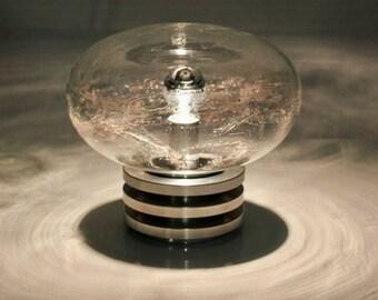DORIA XL Rare mid-century modern bubble blown Murano Venini glass lamp 60s 70s