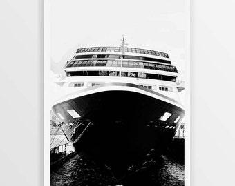 Maritime Ship Print | Ship Print | Maritime Print | Black and White Ship | Photo Print | Downloadable Print | Instant Print | Nautical Art