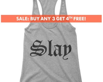 Slay Tank Top, Ladies Workout, Yoga Tank Top, Cute Gym Tank, Gift For Girlfriend, Wife