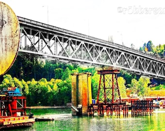 Sellwood Bridge, Portland Bridges Art, Fine Art Photography