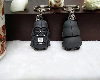 STAR WARS Darth Vader Black Keyring with Silver Chain
