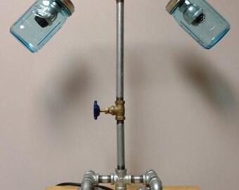 Industrial Pipe Lamp, Desk Lamp, Table Lamp
