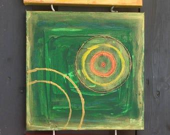 Meditation set #1 // Acrylic Painting // Abstract Art // Original 30x30 cm // Hand painted