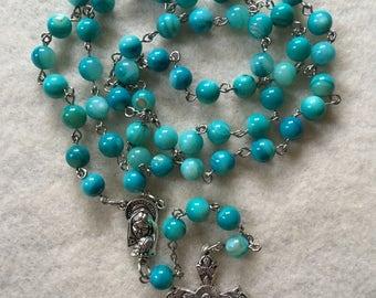 Aqua Shell Rosary