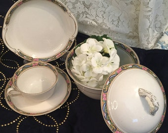 NOW 15 Pieces - Vintage Johnson Bros England Teacup and Saucer Set