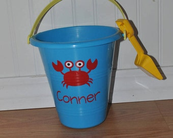 Personalized Beach Bucket and Shovel