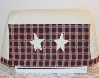 Quilted Sewing Machine Cover, Primitive Sewing Machine Cover, Handmade Sewing Machine Cover