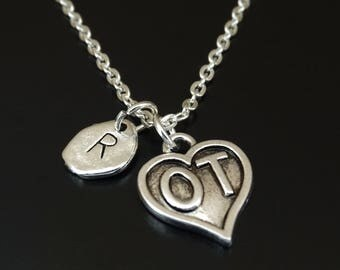 Occupational Therapy Necklace, Occupational Therapy Charm, Occupational Therapy Pendant, Occupational Therapy Gifts, OT Assistant Gifts