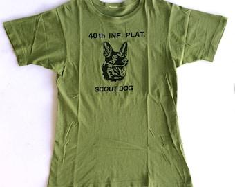 Vintage 70's Vietnam War US Army Platoon Tee