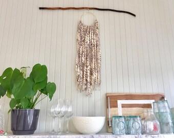 Gorgeous Gray Yarn Wall Hanging