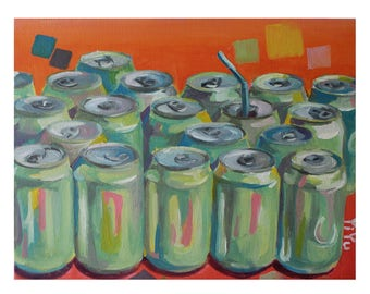 Original Oil Painting- 11'*14'- Soda Cans