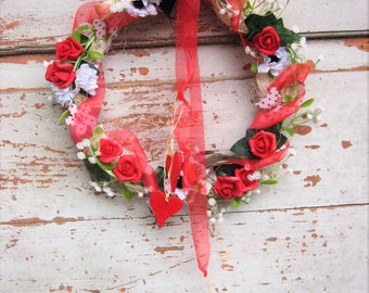 Wandkranz-wreaths-nature country house Style-~ Türschmuck ~ Valentine's Day