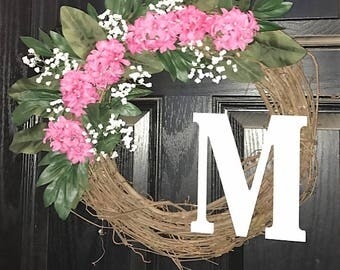 Pink Spring Wreath