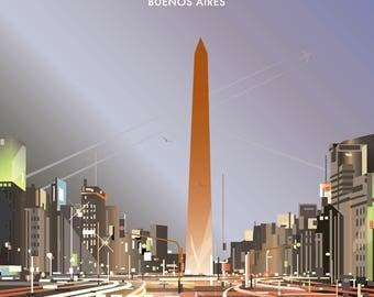 Buenos Aires poster – Obelisco