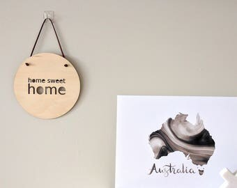 Wall Plaque Roundie - Home Sweet Home