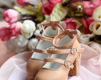 1/3bjd Sd16 SDGR shoes ,Bowknot Mori girl high heel shoes,Lolita