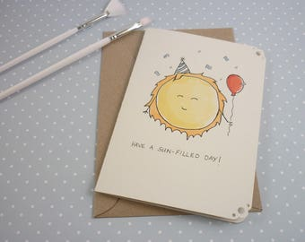 Have a sun-filled day! Recycled Greeting Card Birthday Party 100% Recycled Materials Cute Adorable