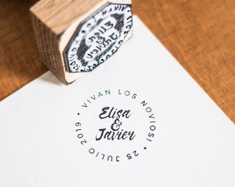 "Custom stamp ""crown of Letters II"""