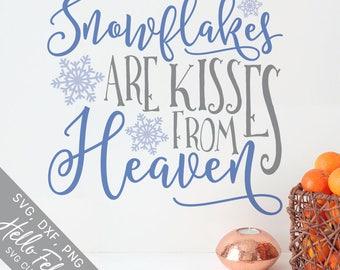 Winter Svg, Christmas Svg, Heaven Svg, Snowflakes Svg, Dxf, Jpg, Svg files for Cricut, Svg files for Silhouette, Vector Art, Clip Art