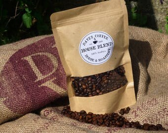 House Blend Coffee Bean, Freshly Roasted Coffee Bean, Hand Roasted, Coffee Lover, Caffeine, Whole bean and Espresso Ground