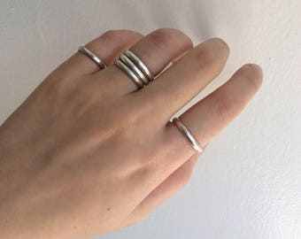 Simple bands | minimal rings | sterling silver bands