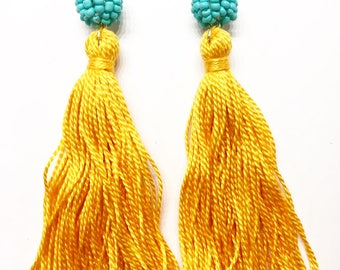Bead-Topped Tassels