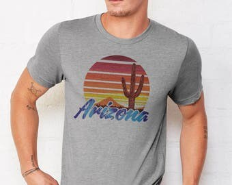 Vintage AZ Sunset: Adult's Crew Neck T-Shirt