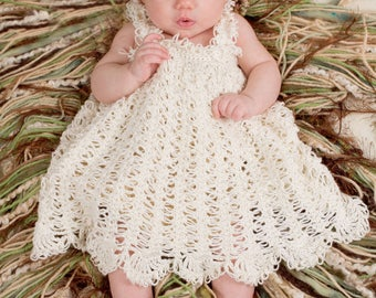 Crochet Baby Dress Pattern - Toddler Crochet Sundress Pattern - Crochet Lace Dress Pattern - Crochet Flower Pattern - Isabella Dress NB-3T