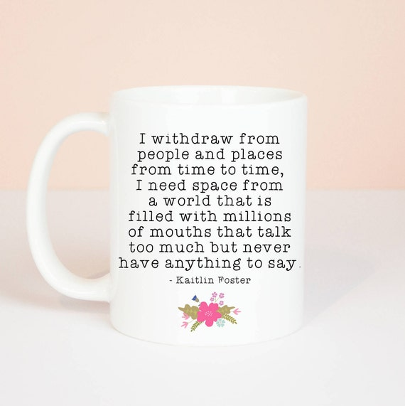 Introvert mug, personalised back, lovely mug for an introvert, a great quote to sum up introvert life