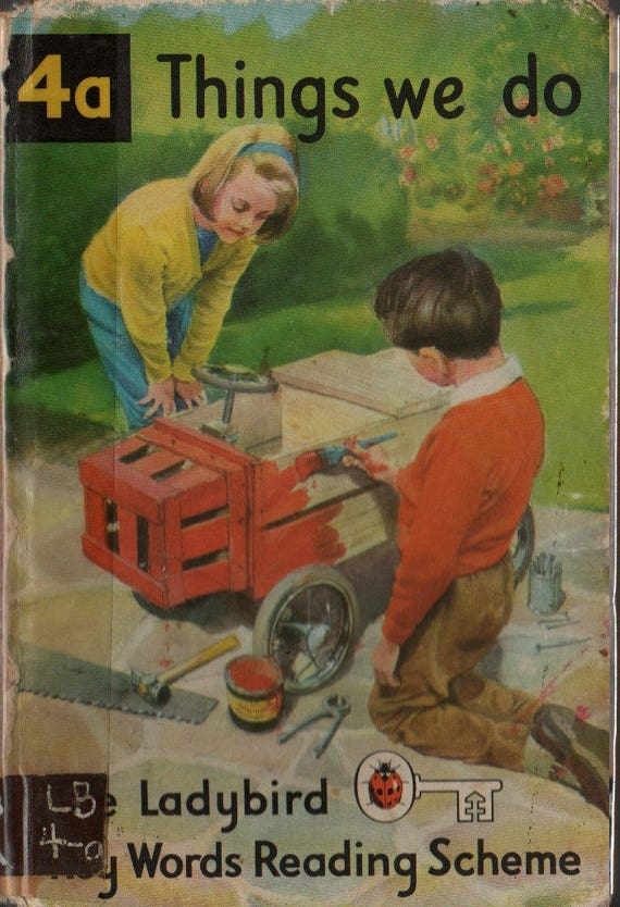 Things We Do 4a The Ladybird Key Words Reading Scheme + W. Murray + J. H. Wingfield + 1964 + Vintage Kids Book
