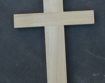SALE - 9180-34 Unfinished Wooden Wall Cross lightly damaged