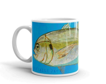 Outdoor Gift- Coffee Gift- Fish Coffee Cup- Husband Gift- Fish Mug- Crevalle Jack Mug- Fishing Gift- for Fisherman Gift- Fish Gift for Him