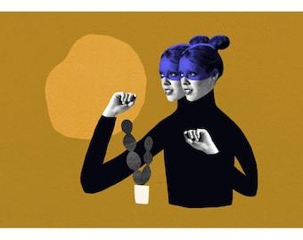 Twins / Fine Art Print / Impression papier d'art / A3 A4 A5