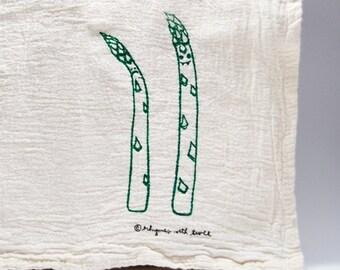 Asparagus Kitchen Towel, Angus & Albus Asparagus Veggie Vampire